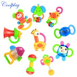 Permainan Keren 10 Gaya Bayi Mainan Kerincingan Bayi Baru Lahir Teether Tangan Lonceng Mainan Bayi 0-12 Bulan Tangan Memegang Bell Bayi Mainan Kerincingan mainan)