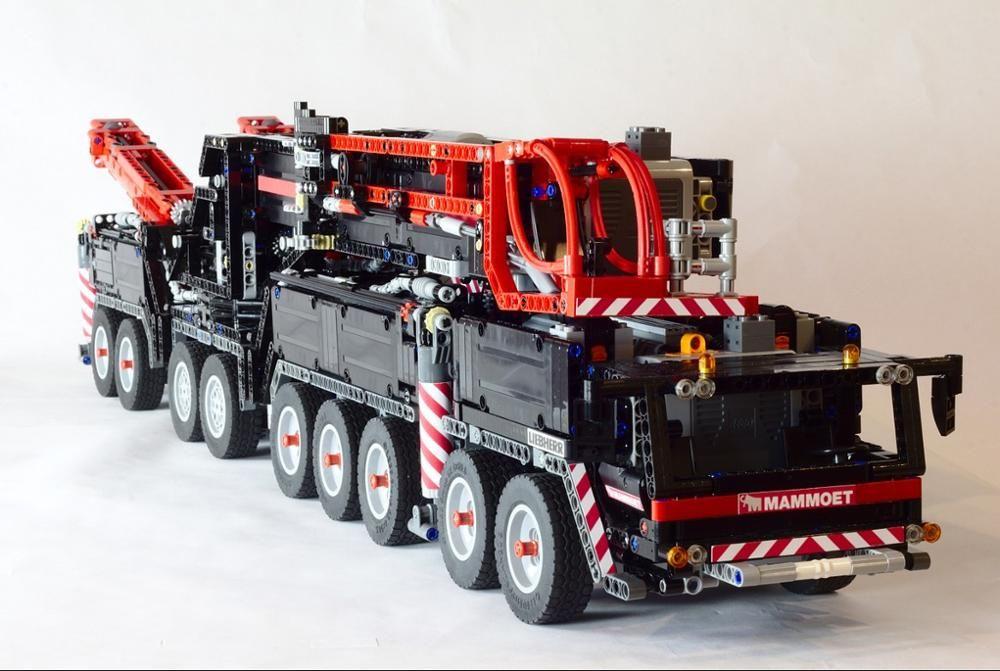 Neue MOC RC Power Funktion Kran LTM11200 fit Technik Motor MOC-20920 kits Bausteine Bricks diy spielzeug Geschenk