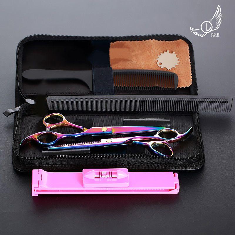 6 pouces coupe amincissant outil de coiffure ciseaux de cheveux en acier inoxydable Salon de coiffure ciseaux ciseaux de coiffeur professionnel
