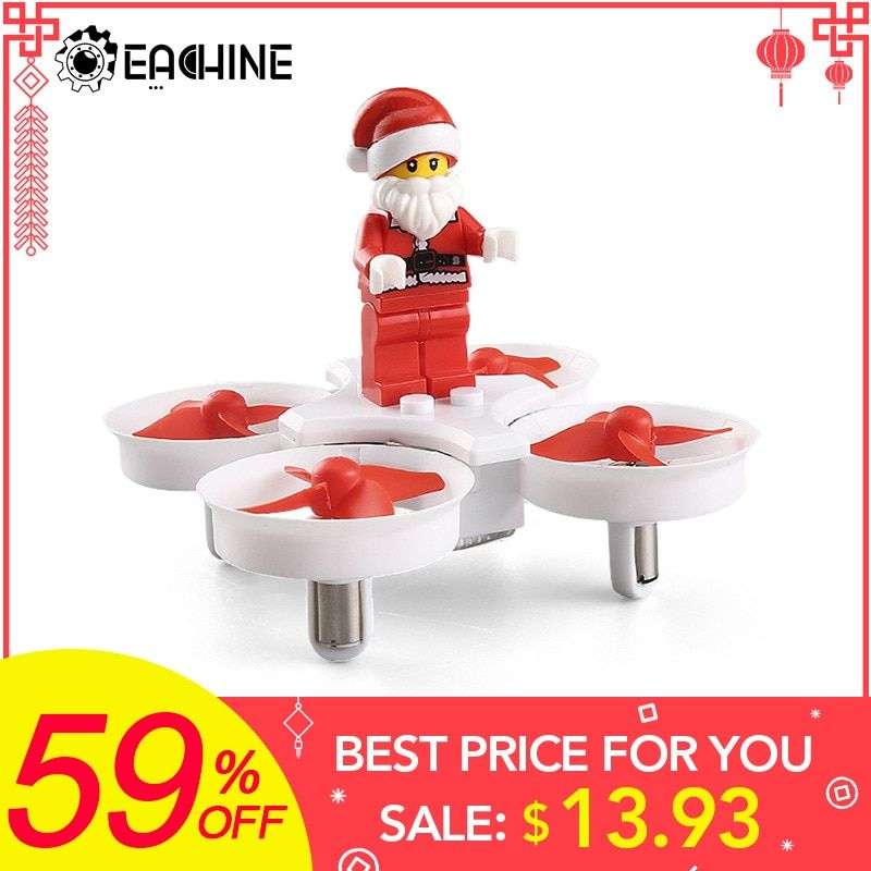 Eachine E011C JJRC H67 Flying Santa Claus With Christmas songs Music Mini 2.4G Toy RC Quadcopter RTF for Kids Gift Present Mode2