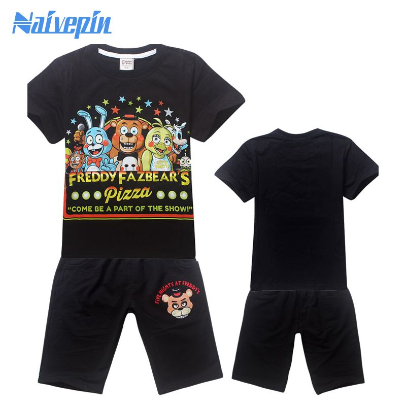 Спортивный костюм спортивные костюмы для девочек детская одежда пуловер Короткие Футболка Наборы для ухода за кожей для мальчиков мультфи...