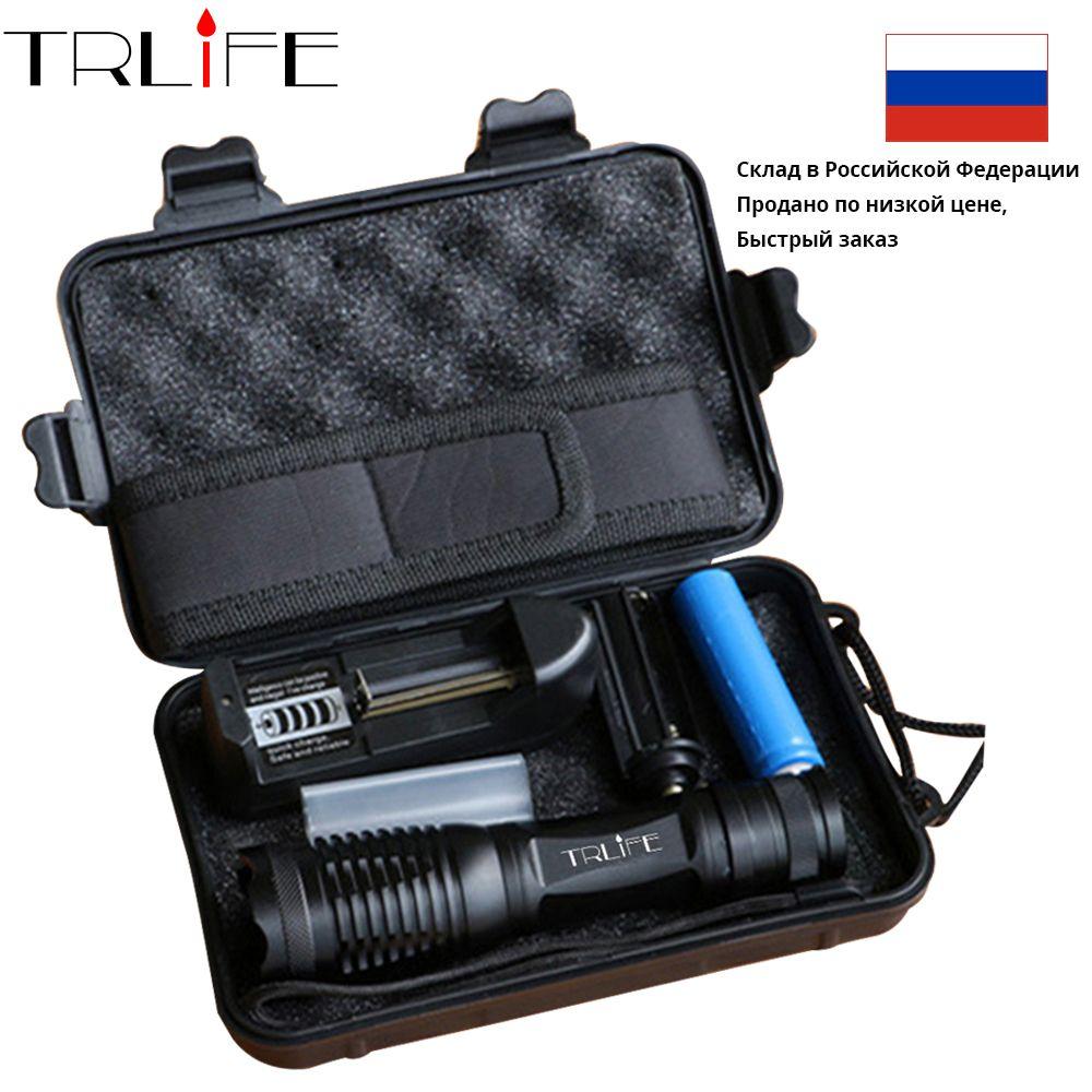 10000 Lumens lampe de poche LED russie fédération entrepôt livraison L2 puissant torche + 18650 batterie + chargeur + Hoster + boîte-cadeau