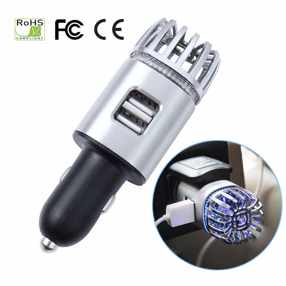 Auto Luft Reiniger 2 in 1 Negative Lons mit Dual USB Ladegerät Ionisator Lufterfrischer Ionic Geruch Eliminator Rauch Bakterien luftreiniger