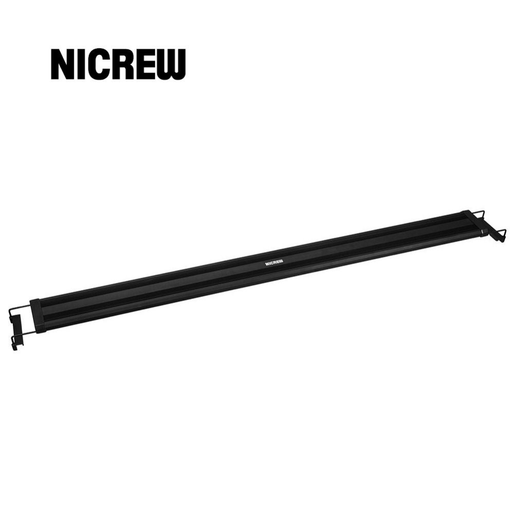 Nicrew Aquarium Fish Tank Lighting LED Light Bar SMD 32W 117-140cm LED Light Lamp with Extendable Brackets Fits for Aquarium