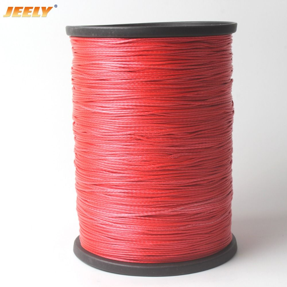 JEELY High Strength 1mm 500M 12 strands UHMWPE Towing Winch Rope Cord