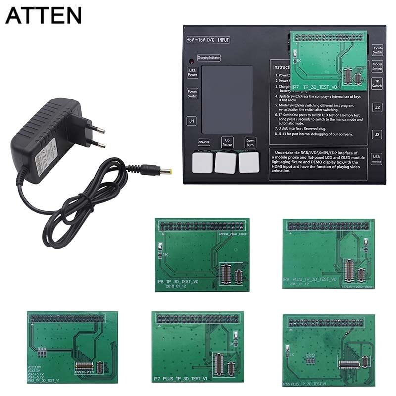 ATTEN LCD display & Digitizer Touch screen panel Tester test board für iphone 6 S 6 s plus 7 7 plus 8 8 plus Touch Screen Tester Box