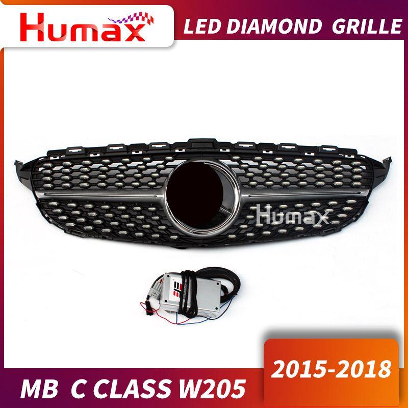 Für C klasse w205 AM-G Diamant LED grill ersatz C200 C300 LED front grill beleuchtung frontschürze gute einrichtung