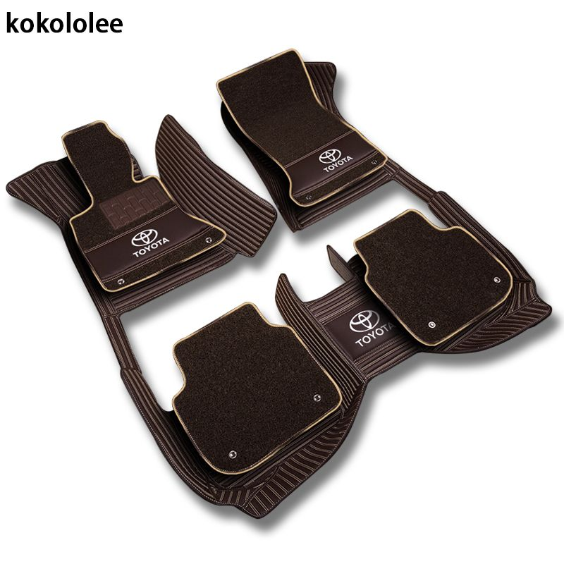 kokololee Custom car floor mats for Toyota All Models Corolla Camry Rav4 Auris Prius Yalis Avensis 2014 auto accessories styling