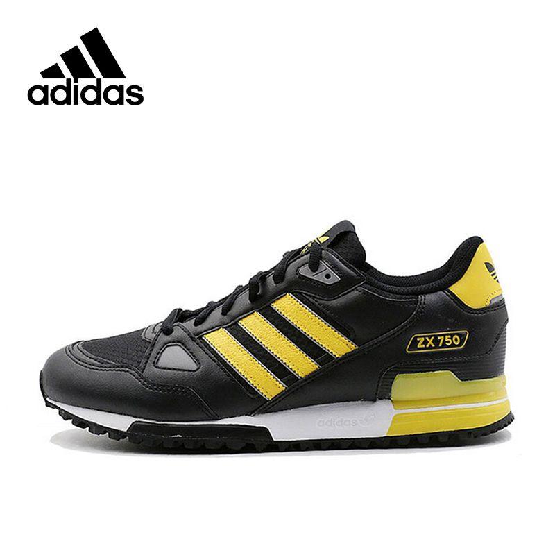 Официальный Новое поступление adidas Originals ZX 750 Для Мужчин's Обувь для скейтбординга Спортивная обувь Classique Обувь платформа дышащий