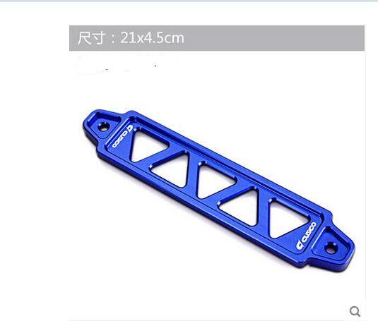 21.5cm Aluminum Car Battery Tie Down Bar Bracket Holder Universal Fit Blue for Honda Civic 92-95 EG