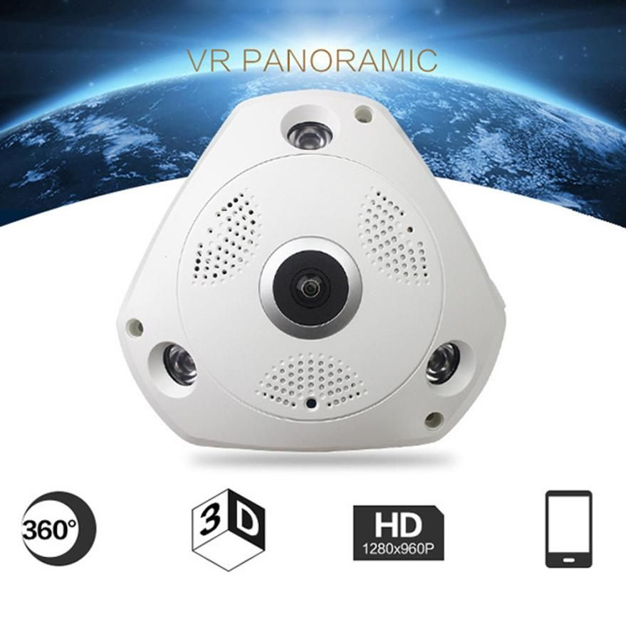 Neue 360 Grad Panorama Wireless Home Security Surveillance IP Kamera Audio Video WiFi 18Mar01 Drop Ship F