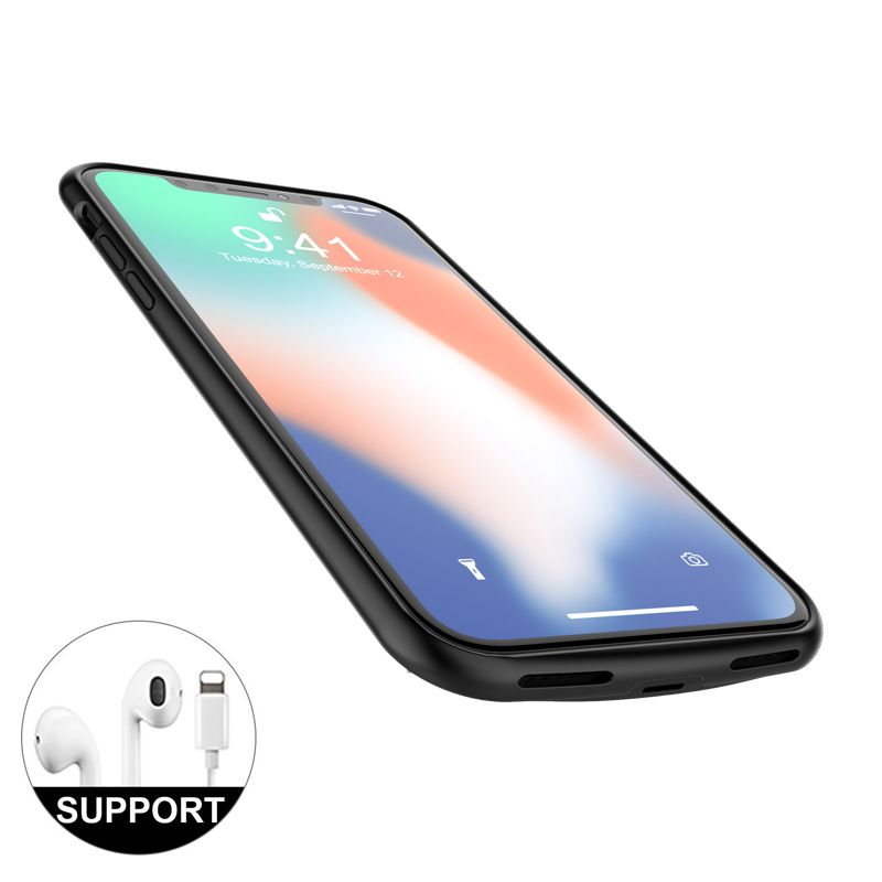 2in1 Charging and Listen to songs / 4000mAh Battery case for iphone X External Power Bank charger phone cover cases