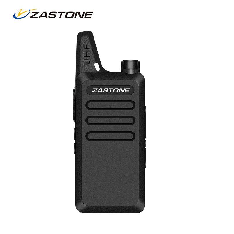 Zastone ZT-X6 Mini Walkie Talkie UHF 400-470MHz Frequency 5W Two Way Radio FM Transceiver Handheld Communicator X6 CB Ham Radio