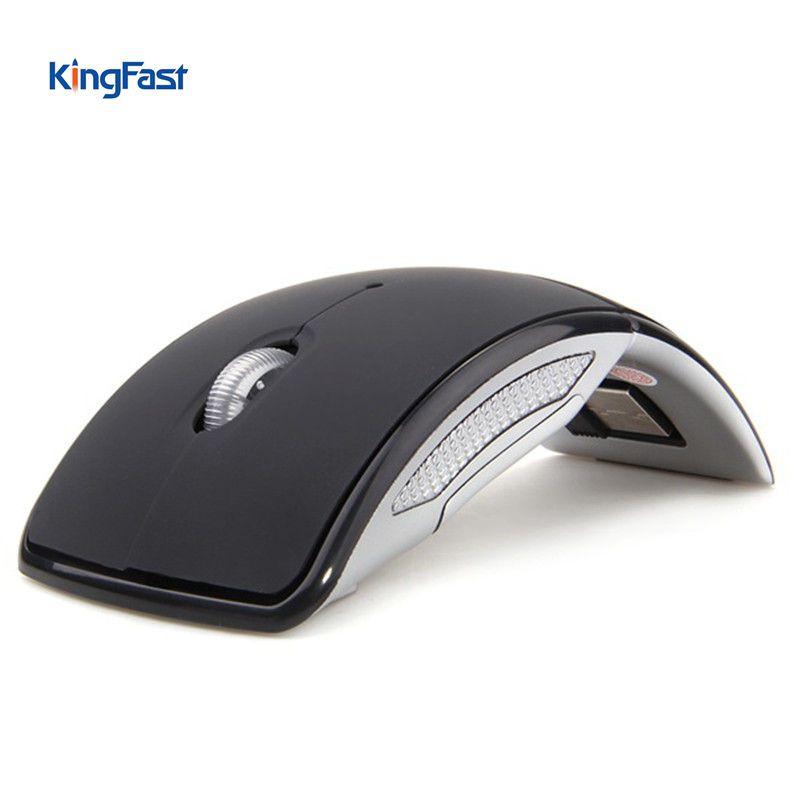 KINGFAST Protable Ratón Inalámbrico Ratón de la Computadora Ratón Plegable Óptico Receptor Ratones USB para Xiaomi Portátil Macbook Laptop PC