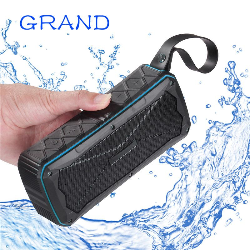 Wireless Bluetooth 4.1 S610 Outdoor Portable Stereo Speakers IP67 Waterproof Built-In Dual Driver TFcard Slot <font><b>GRAND</b></font>