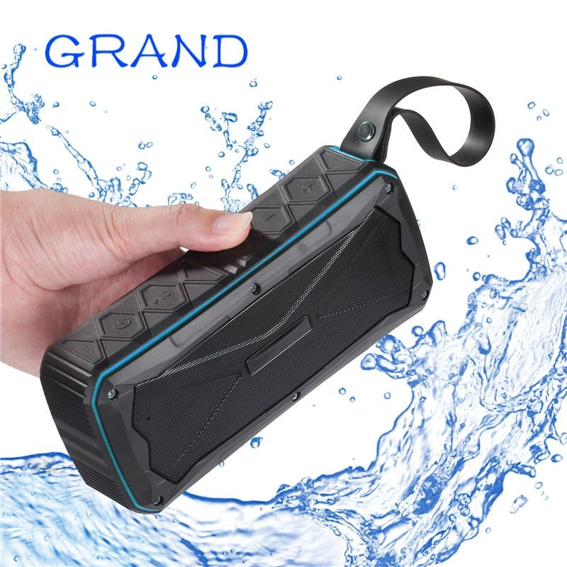 Wireless Bluetooth 4.1 S610 Outdoor Portable Stereo Speakers IP67 Waterproof Built-In Dual Driver TFcard Slot GRAND