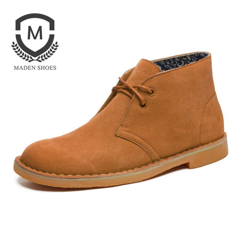 Maden Marque Nouvelle mode Européenne Haut de gamme homme en cuir véritable bottes Martin voyage Britannique hommes travail Outillage désert bottes hommes bottes