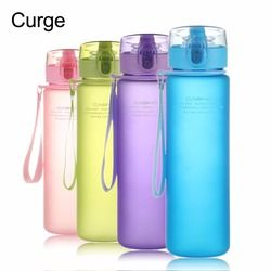 CURGE Flip Top Lid Direct Drinking Plastic water bottle 400ml 560ml #1107