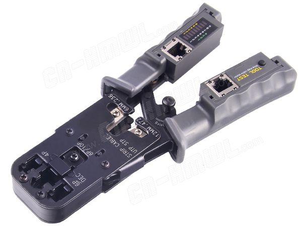 Multifunktionale Netzwerk Crimpwerkzeuge für RJ45 Test Crimp-werkzeug mit Ratsche Cat6 RJ12 RJ45 RJ50 RJ11 (10P10C/8P8C/6P6C/6P4C)