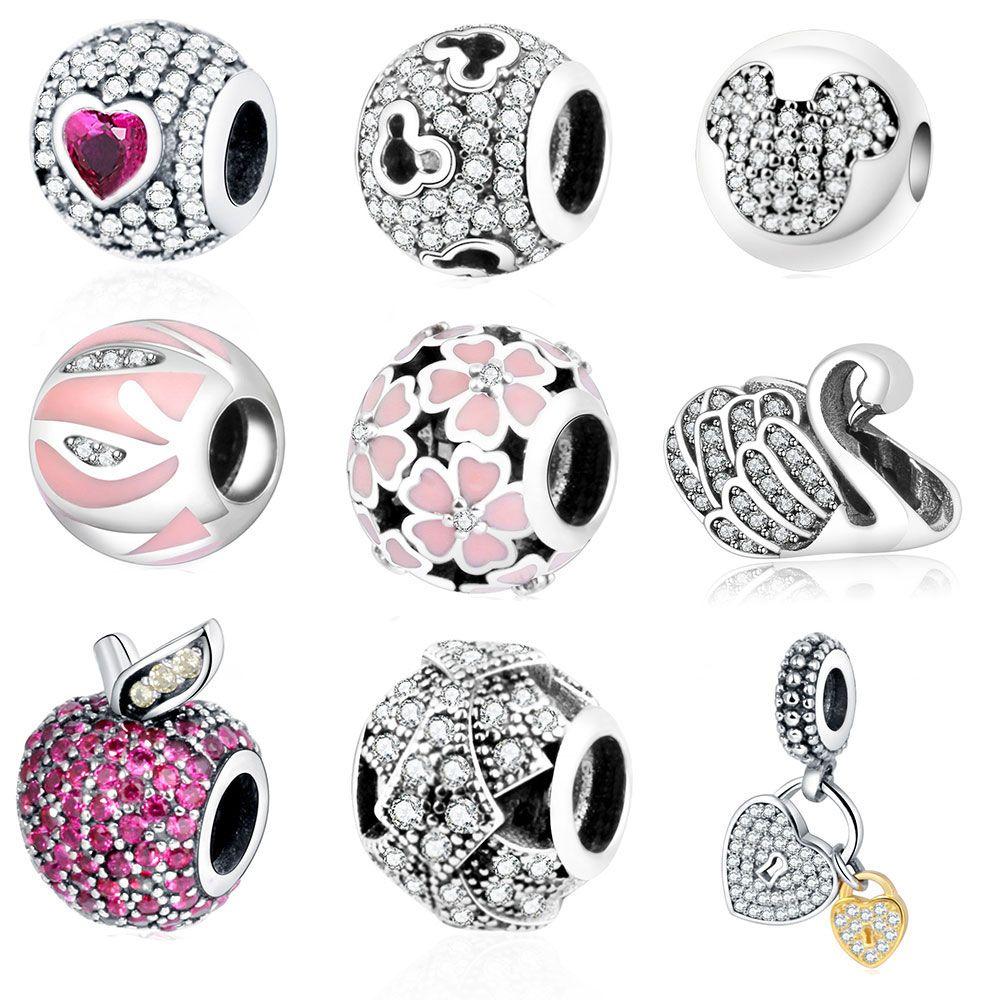 925 perles en argent Fit Original bracelet à breloques Pandora bracelet offre spéciale en gros bijoux à bricoler soi-même Berloque 2016 hiver prix usine