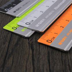 Avec le échelle règle de mesure de cartographie de bureau papeterie 15 cm/20 cm/30 cm règle en acier inoxydable acier de coupe règle