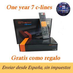 Freesat V8 actualización Gtmedia V8 NOVA receptor TV satélite DVB-S2 Europa Clines por 1 año incorporado Wifi Dongle de alta calidad estable
