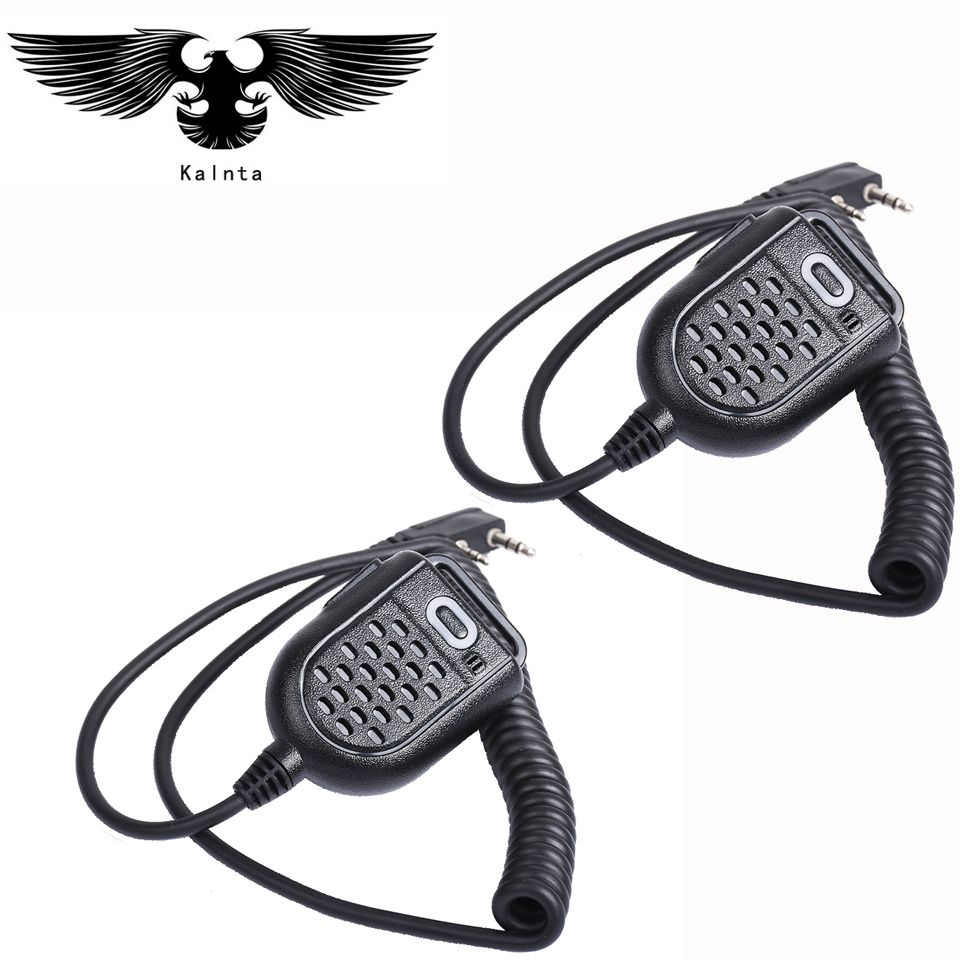 2 pc Mini micro haut-parleur PTT par BAOFENG UV-5R BF-888s chape H777 RT3 TYT PUXING QUSHENG microphone Radio talkie-walkie