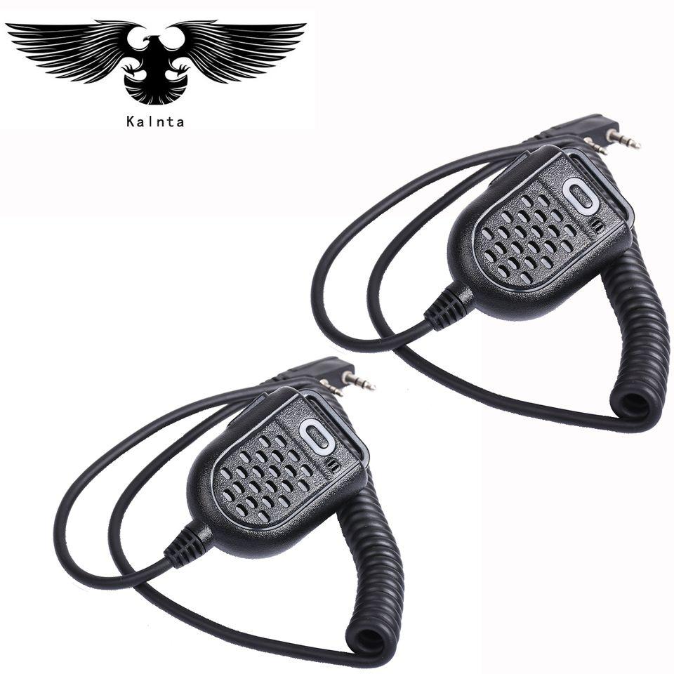 2pc Mini PTT Speaker Mic per BAOFENG UV-5R BF-888s Retevis H777 RT3 TYT PUXING QUSHENG microphone Ham Radio Walkie Talkie