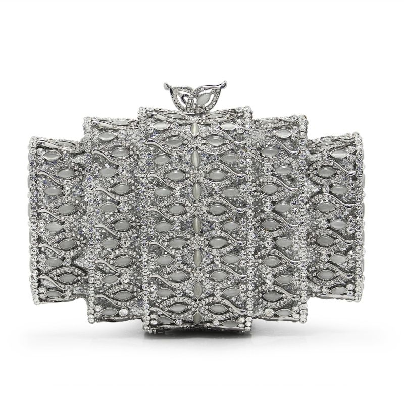 Luxus Marke Frauen Abendtaschen Damen Handgefertigte Kristall Strass Clutch Bag Weiblichen Gold Splitterfarbe Party Kupplungen (88241-SS)