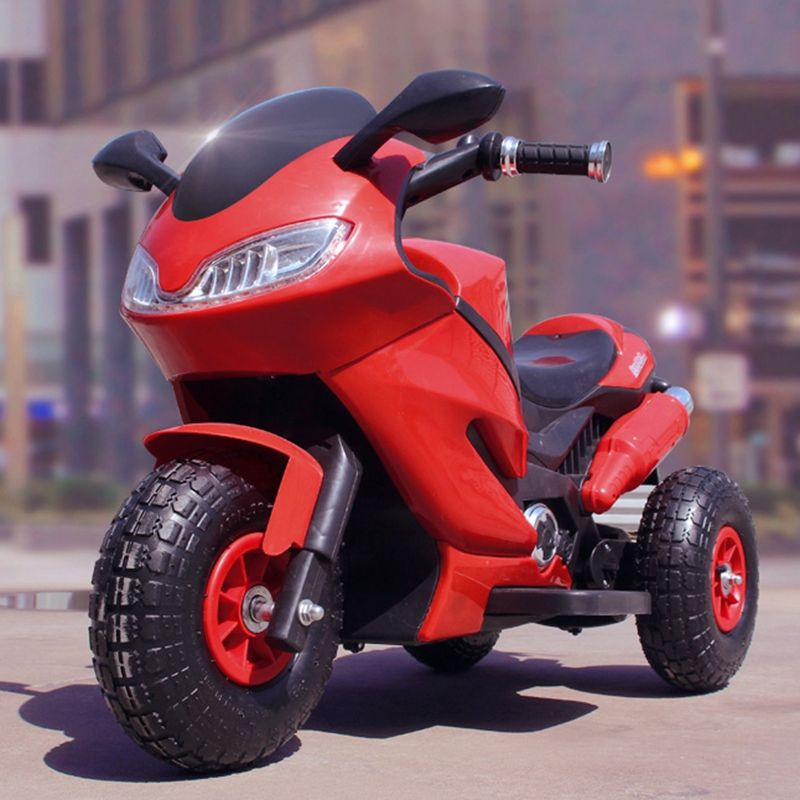 Children's inflatable tires electric motorcycle baby tricycle large 1 to 14year-old child charge bottle toys can take people rem