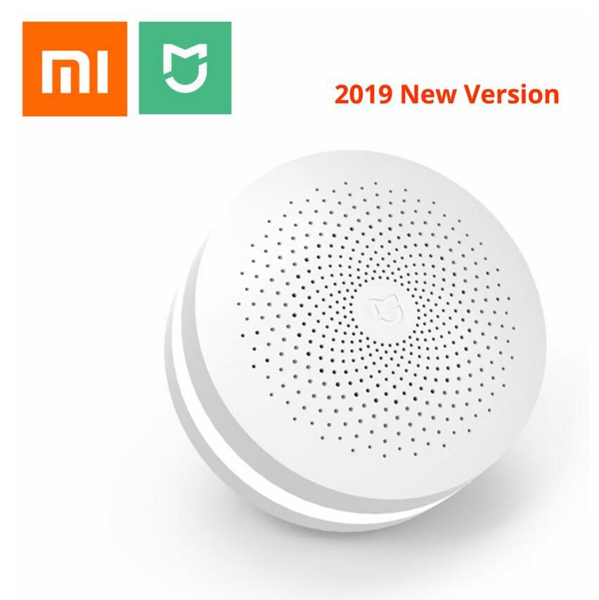 2019 New Xiaomi Mijia Multifunctional Gateway 2 Hub Alarm System Intelligent Online Radio Night Light Bell Smart Home Hub
