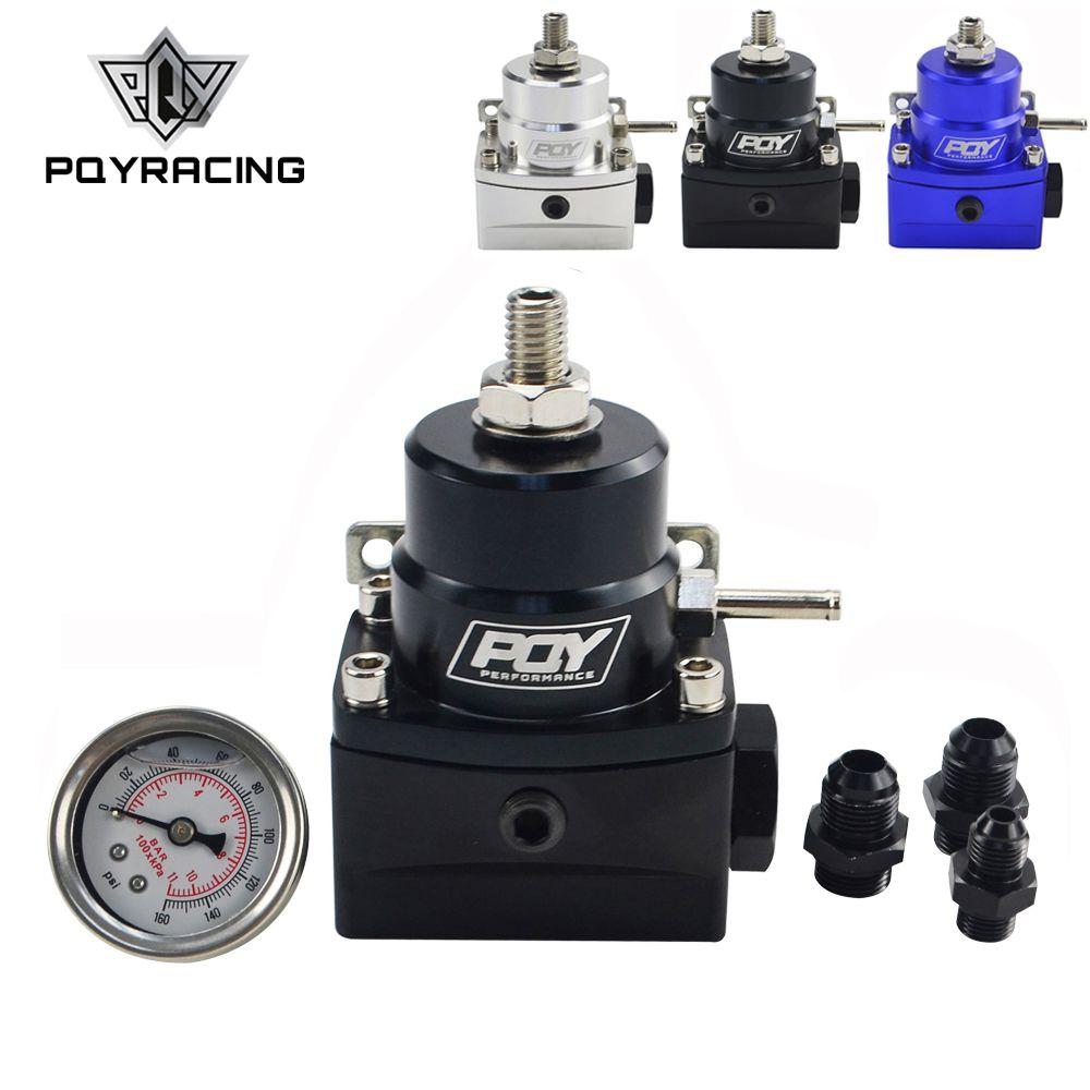 AN8 régulateur de carburant haute pression avec boost-8AN 8/8/6 EFI régulateur de pression de carburant avec jauge PQY7855