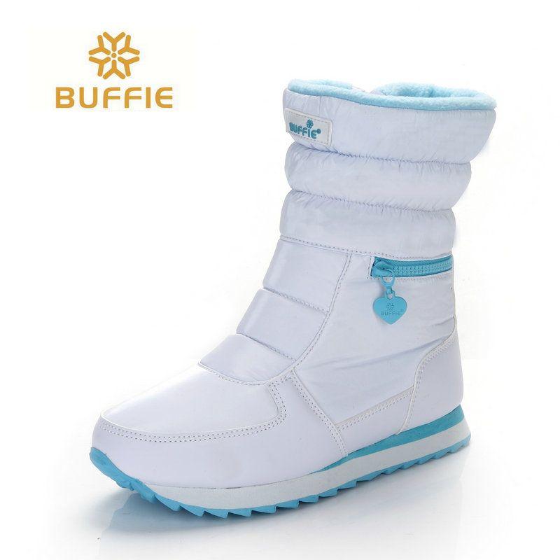 Blanc bottes d'hiver femmes bottes de neige de mode nouveau style 2018 femmes chaussures de Marque chaussures de haute qualité rapide livraison gratuite girlw bottes