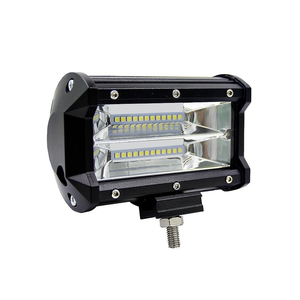 iSincer Car-Sytling Work Light Bar 12V Work Lamp 72W 6000K with CREE LED <font><b>Chip</b></font> 5 inch Car LED Lamp Bulb for Motorcycle Headlight