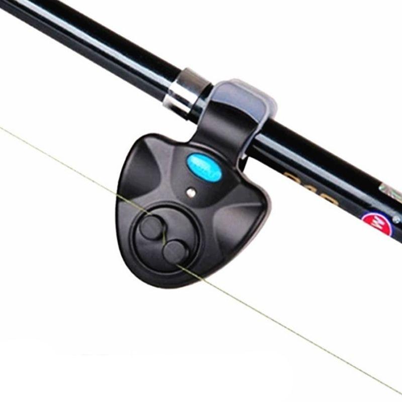 Black Small MINI Electronic Wireless ABS Fish Bite Alarm Sound Running LED Sensitive Mat fishing Accessories Free Shipping