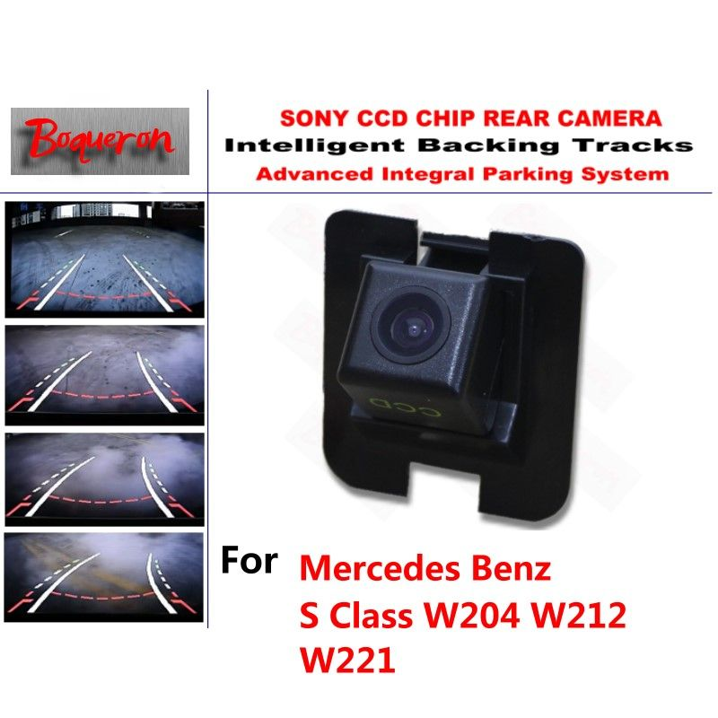 for Mercedes Benz S Class W204 W212 W221 CCD Car Backup Parking Camera Intelligent Tracks Dynamic Guidance Rear View Camera