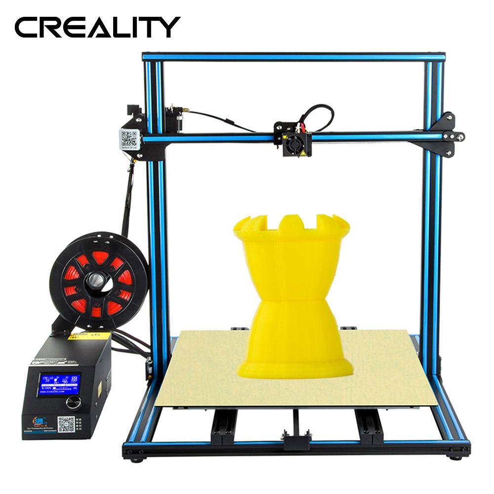 Full Metal Plus size 500*500*00MM Creality 3D Printer CR-10 S5 With Dua Z Rod Filament Sensor Detect Resume Power Off 3D Printer