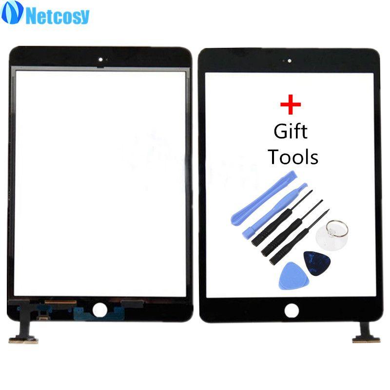 Netcosy Écran Tactile Digitizer Avant Tactile Lentille En Verre de Panneau pour iPad Mini 1 2 Écran Tactile Pièces De Rechange TP + De Réparation outils