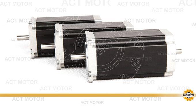 3pcs Nema 23 stepper motor 272 oz.in 3.0A 4leads DUAL SHAFT 23HS8430B21 CNC Router/KIT Cut Laser Engraving Good Quality