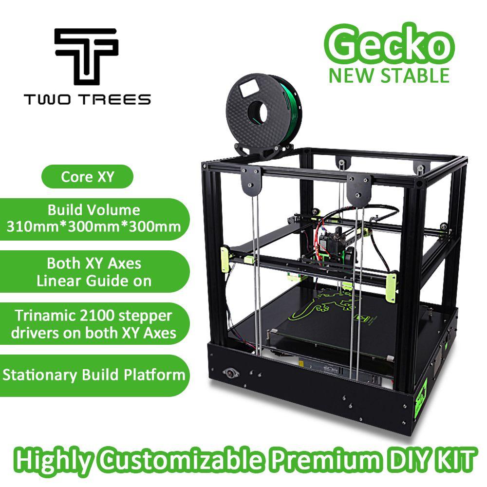 2018 3D Drucker Gecko Big Siebdruck Bereich CoreXY System aluminium struktur High-präzision mit wärme bett große Titan extruder