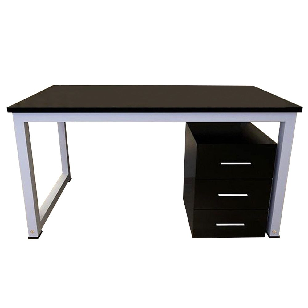 Modern Metal Computer PC Home Office Desk / Study Table Bedroom Colour:Black
