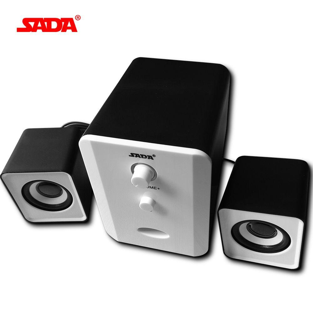 SADA Marque Mini filaire Portable combinaison haut-parleur Colonne ordinateur haut-parleur 2.1 USB canaux 3 W Ordinateur Portable haut-parleurs PC 3.5mm plug