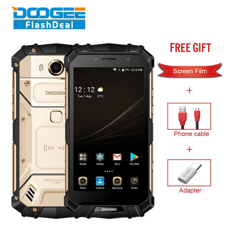 DOOGEE S60 IP68 Waterproof Dustproof Phone 6GB+64GB 5.2