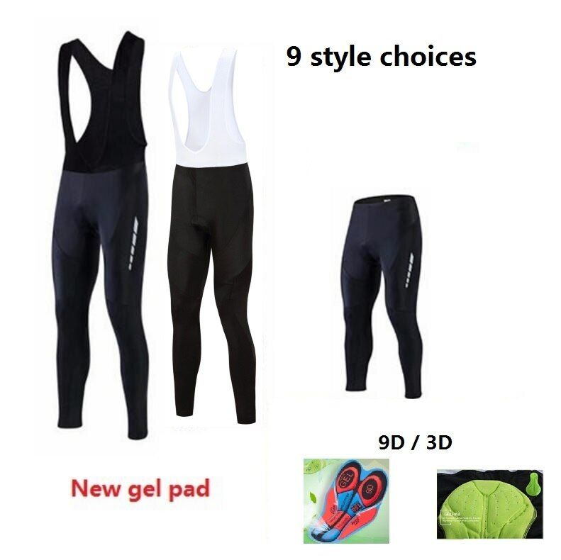 2016 Men/women Padded Cycling Long Bicycle Bib Pants High-quality 3D/9D Gel Pad Bike Tights Mtb Ropa Pantalon Ciclismo <font><b>Invierno</b></font>