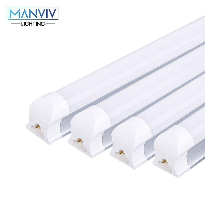 4 pièces T8 LED Tube 9 W 2ft = 60 cm 12 W 3ft = 90 cm 220 V PVC plastique Tube fluorescent LED blanc froid blanc chaud pour salon cuisine