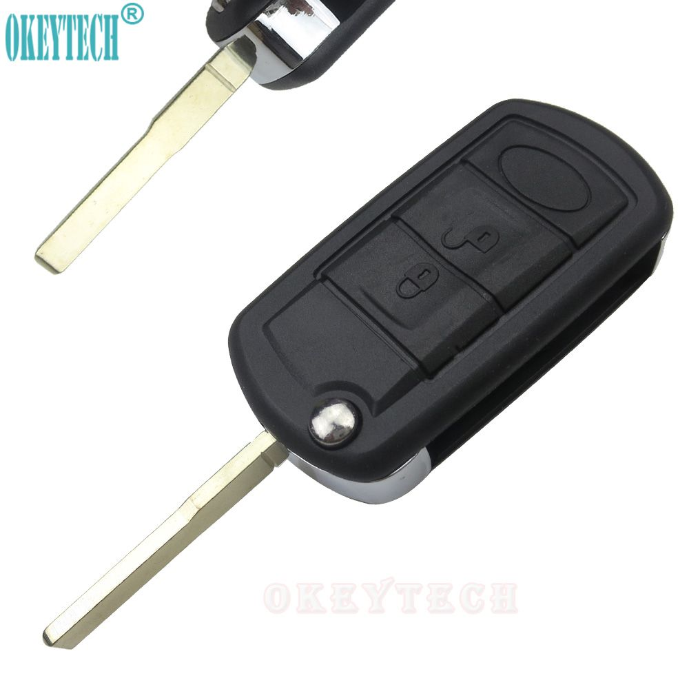 OkeyTech New Styling Car Key Shell Flip Folding Remote Key Case Fob 3 Buttons for LAND ROVER Range Rover Sport LR3 Discovery