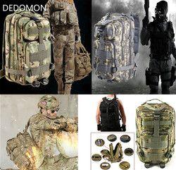 2017 3 P Outdoor Militer Taktis Ransel 30L Molle Tas Tentara Olahraga Ransel Perjalanan Berkemah Hiking Trekking Kamuflase Tas