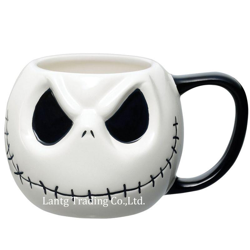 <font><b>Jack</b></font> Skellington Mug, The Nightmare Before Christmas Cartoon Coffee Mug Tea Cup