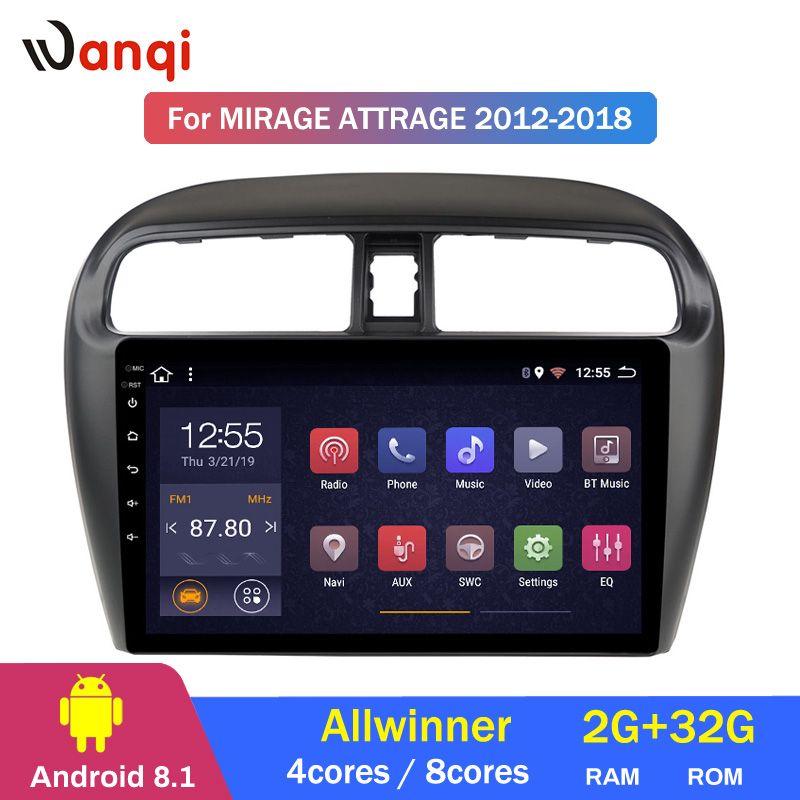 2G RAM 32G ROM 9 Zoll Android 8.1 Auto Gps Navigation Für Mitsubishi mirage attrage 2012-2018