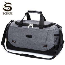 Scione Nylon bolsa de viaje de gran capacidad hombres mano de equipaje de viaje bolsas Nylon Weekend bolsas mujeres bolsas de viaje multifuncional